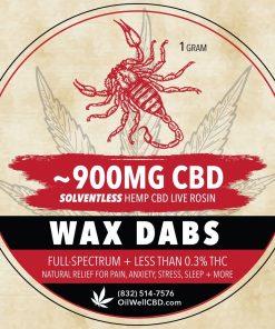 Solventless CBD Wax Dabs, Pressed in Houston, TX