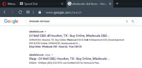Wholesale CBD Texas - #1 and #2 on Google