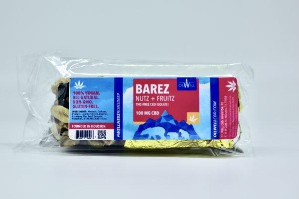 BAREZ Bare Bear Bars: Vegan, Gluten-Free, All-Natural, and Non-GMO fruit and nut edible bars with 100mg CBD Isolate per bar!