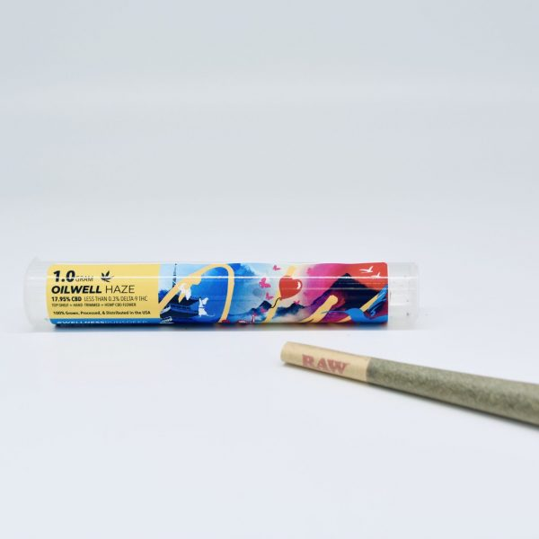 OilWell Haze Top-Shelf 1.5 Gram CBD Flower Pre-Roll Joint