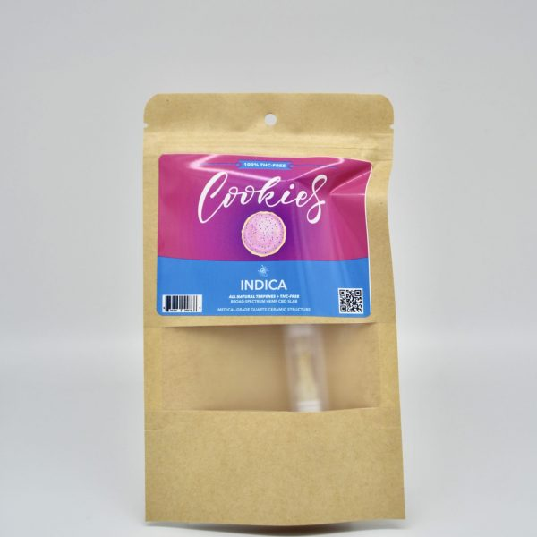 Cookies THC-FREE Indica Hemp CBD Cartridge - 1 Gram, Medical-Grade Ceramic