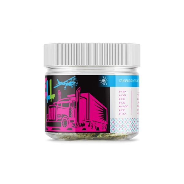 OilWell Kush Hemp CBD Flower Right of the Jar