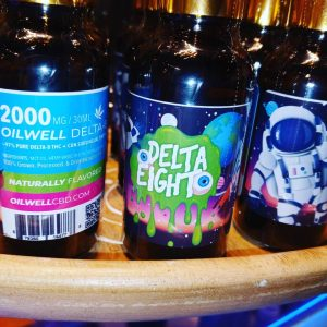 30ml (1oz) Bottle of 2000mg Delta-8 THC, CBN, abd MCT Oil as Fast-Acting Sublingual Drops!