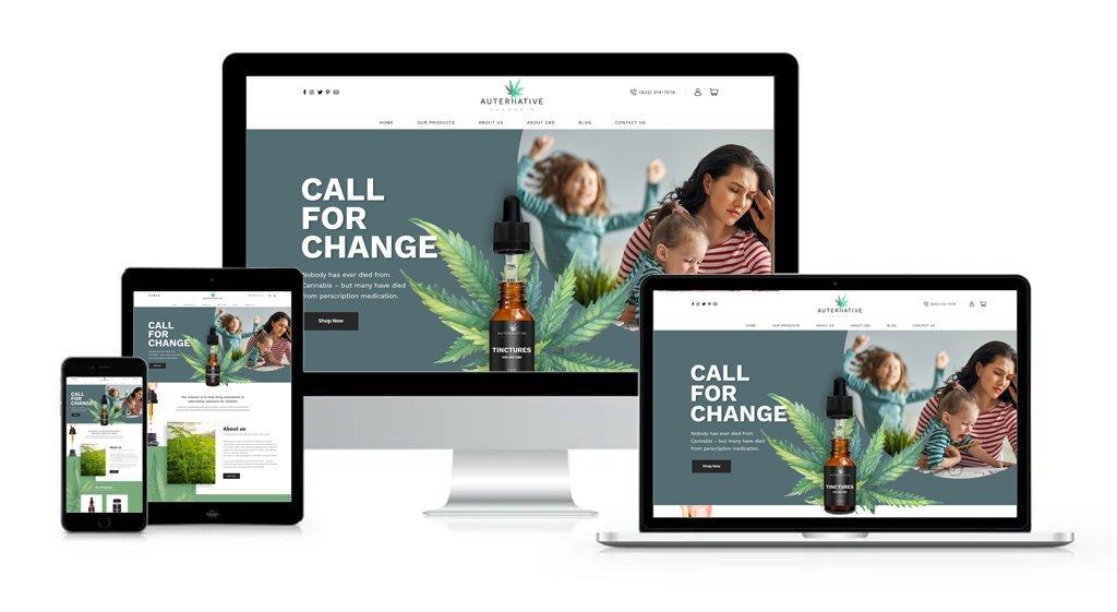 Auternative Cannabis - Private-Label/White-Label Branding, Website Design, Logo Design, Packaging Design, Label Design, and Product Formulation